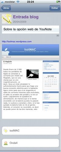Ejemplo de nota de pagina web